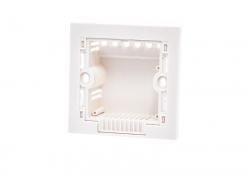 Квадратный подрозетник для выключателя света (для гипсовой стены)